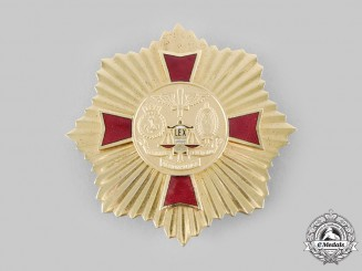 Brazil, Federative Republic. A National Order of Judicial Military Merit, Grand Cross Star, c.1960