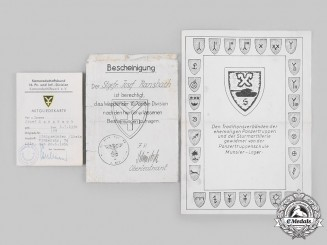 Germany, Heer. A Group of Documents from 16th Panzer Division to Stabsgefreiter Ransbach
