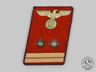 Germany, NSDAP. A Gau-Level Hauptbereitschaftsleiter Collar Tab