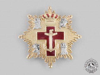 Spain, Constitutional Monarchy. Naval Order of Merit with Red Distinction, III Class Star, c.2000