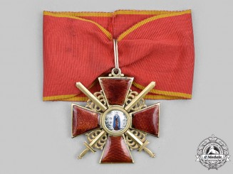 Russia, Imperial. An Order of Saint Anne, II Class with Swords in Gold, by Eduard