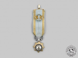 French, Colonial. An Order of Anjouan, Grand Officer Miniature in Gold and Diamonds,