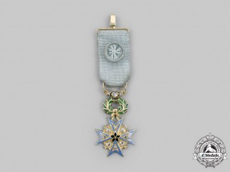 French, Colonial. An Order of the Black Star, Grand Officer Miniature in Gold and Diamonds,