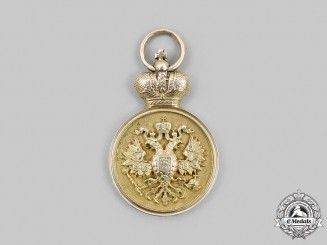 Russia, Imperial. An 1894 St. Petersburg Imperial University Graduation Jetton in Gold