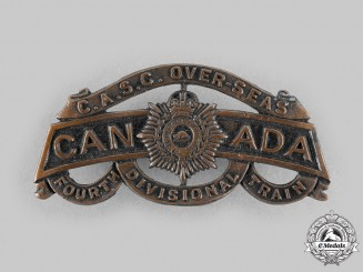 Canada, CEF. A Canadian Army Service Corps Fourth Divisional Train Shoulder Title