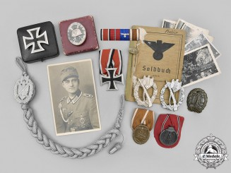 Germany, Heer. An Lot of Awards and Documents from the Estate of Hauptfeldwebel Richard Piehler