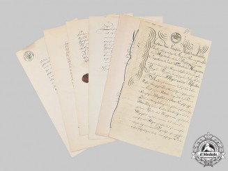 Prussia, Kingdom. A Collection of Certificates to Major von Heinzmann and Daughter Charlotte