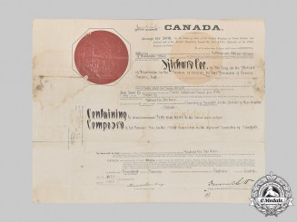 Canada, Dominion. An Indian Land Sale Grant Document, District of Manitoulin, Ontario, 1918