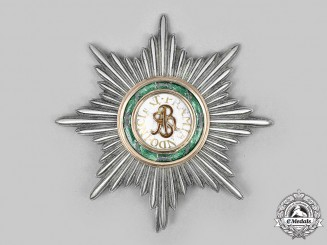 Poland. An Order of Saint Stanislaus, I Class Breast Star, c. 1860