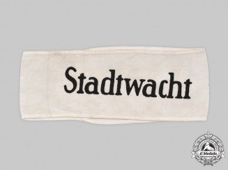 Germany, Third Reich. A Stadtwacht Armband