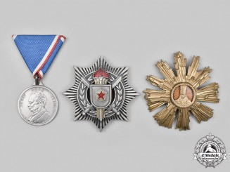 Romania, Yugoslavia. A Lot of Three Socialist Awards