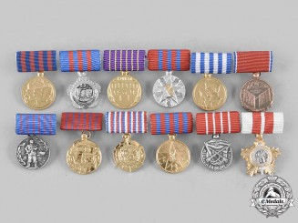 Yugoslavia, Socialist Federal Republic. Lot of Twelve Miniature Orders and Medals