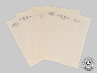 Germany, HJ. Five Unused Sheets of Note Paper from the Office of Baldur von Schirach