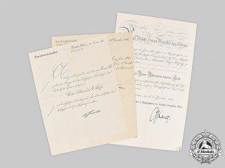Germany, Imperial. A Red Eagle Document Group to Postal Director Kießig 1913