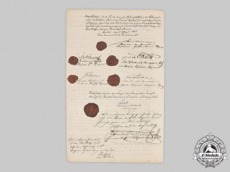 Germany, Imperial. A Berlin Guard Infantry Regiment Document Signed by Crown Prince Friedrich III, 1859