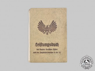 Germany, BDM. A Proficiency Booklet to Lotte Schulte, 1940