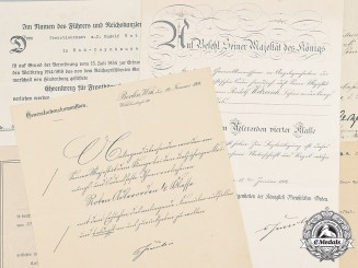 Germany, Imperial. Award Documents to Regimental Commander, Oberstleutnant Wetzerich