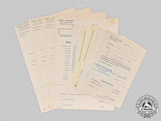 Germany, HJ. A Lot of Unissued/Stock Vienna HJ Headquarters Forms