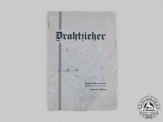 "Germany, Third Reich. The Book ""Drahtzieher"" from Library of A.H. with Dedication by Author, 1933"
