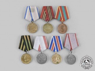 Russia, Soviet Union. A Lot of Seven Medals