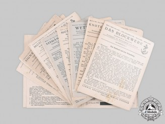 Germany, Kriegsmarine. 11 Official Codes of Conduct Tables for Sailors