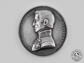 Austria, Imperial. A Military Maria Theresa Order Archduke Karl Jubilee Medal in Silver, by the Vienna Mint