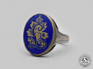 Bavaria, Kingdom. A King Ludwig II Commemorative Silver Ring
