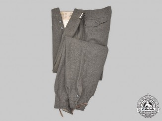 Germany, Wehrmacht. A Pair of Assault Gun Personnel M40 Trousers, by Max Müller
