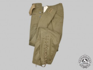 Germany, Wehrmacht. A Pair of Afrika Korps Personnel Corduroy Breeches, by M. Neumann