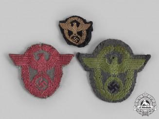 Germany, Ordnungspolizei. A Lot of German Police Cloth Insignia