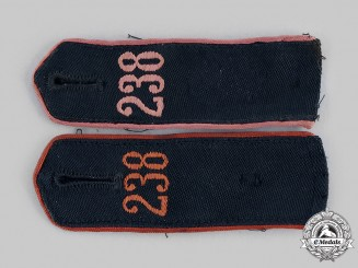 Germany, HJ. A Pair of HJ Shoulder Straps, RZM Tagged