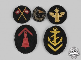 Germany, Kriegsmarine. A Lot of German Navy Cloth Career Insignia