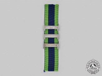 United Kingdom. Three Clasps for the India General Service Medal 1908-1935