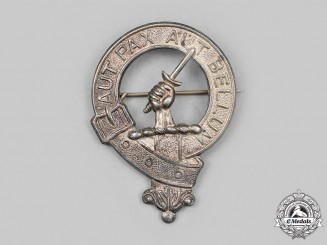 United Kingdom. A Silver Clan Gunn Badge