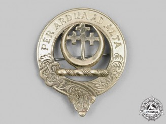 United Kingdom. A Silver Clan Hanney Badge