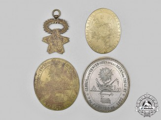 Argentina, Republic. A Lot of Four Reproduction Society Medals, c.1915