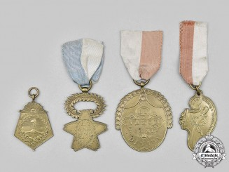 Argentina, Chile, Peru. A Lot of Four Reproduction Society Medals
