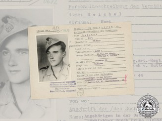 Germany, SS. A SS HIAG Tracing Service File for SS-Mann Kurt Reichel