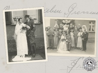 Germany, Third Reich. A Pair of Heer and SA Wedding Photos with Rare Cuff Titles in Wear