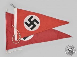 Germany, NSDAP. A Pair of NSDAP Flag Pennants