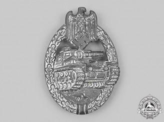 Germany, Wehrmacht. A Panzer Assault Badge, Silver Grade, by Rudolf Richter