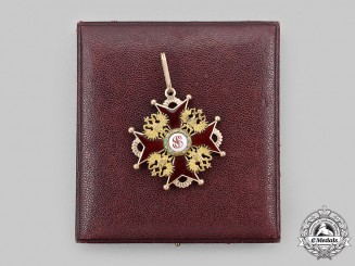 Russia, Imperial. An Order of St. Stanislaus, II Class Cross in Gold by Julius Keibel, c. 1880
