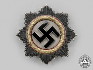 Germany, Wehrmacht. A German Cross in Gold, Heavy Version, by Godet & Co.