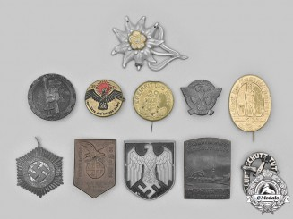 Germany, Third Reich. A Lot of Badges and Cap Insignia