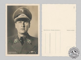 Germany, Third Reich. A Rare Wartime Signed Portrait of HJ Leader Baldur von Schirach, Dedicated to Fritz Todt