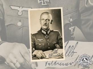 Germany, Wehrmacht. A Wartime Signed Portrait of Generalfeldmarschall Wilhelm Ritter von Leeb
