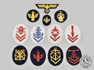 Germany, Kriegsmarine. A Lot of Rank and Trade Insignia