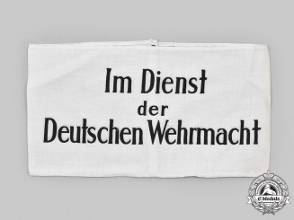 Germany, Wehrmacht. A Wehrmacht Auxiliary's Armband