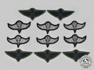 Saudi Arabia, Kingdom. A Lot of Eleven Embroidered Paratrooper Badges