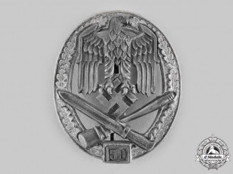 Germany, Wehrmacht. A General Assault Badge, Special Grade 50, by Rudolf Karneth